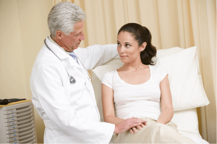 patient showing doctor signs of addiction