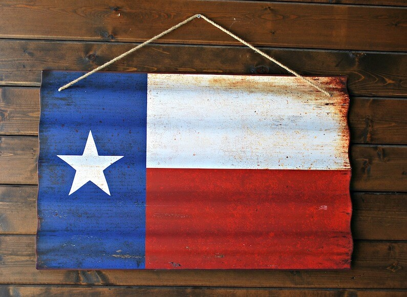flag of lone star state dealing with texas opioid epidemic