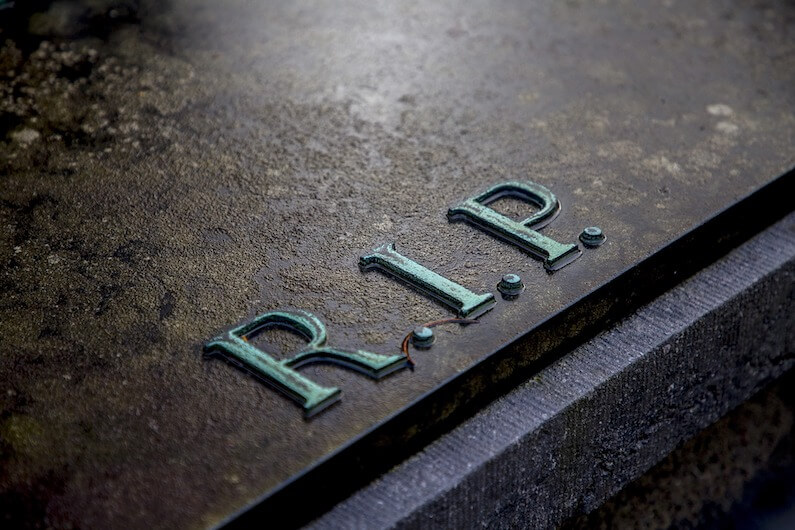 grave stone showing effects of opioid crisis